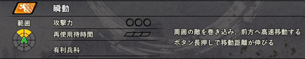 戦国無双5_瞬動