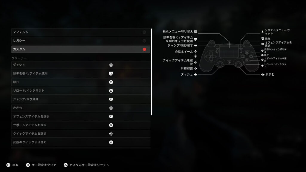 Back 4 Blood_ボタン配置